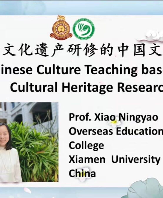 Guest Lecture on Chinese Culture Teaching based on Cultural Heritage Research – 24th Aug.